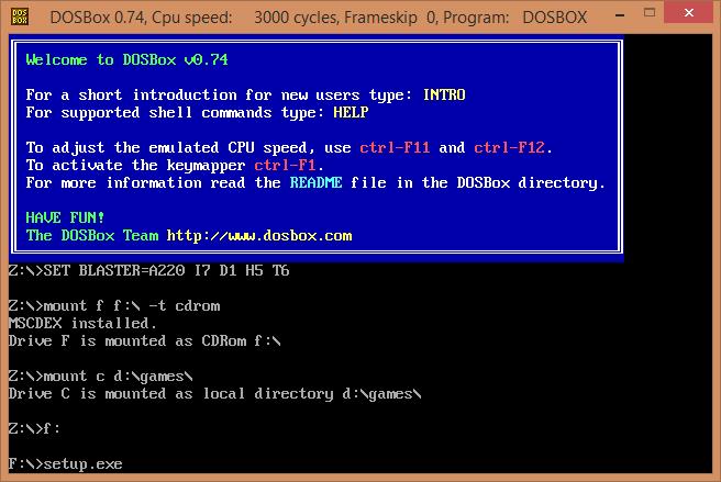 Установка Red Alert DOSBox